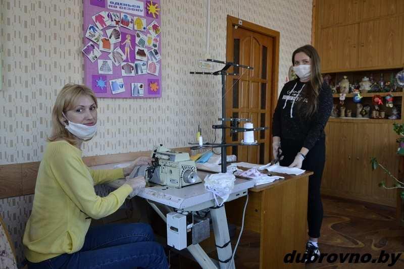 В Дубровно организован пошив защитных масок